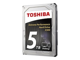 Toshiba 5TB X300 3.5 Internal Hard Drive, HDWE150XZSTA, 29491261, Hard Drives - Internal