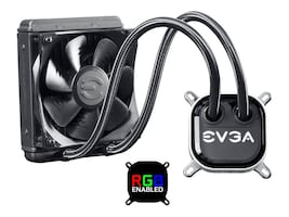 eVGA CLC 120 Liquid CPU Cooler, Fan Adjustable RGB LED, 400-HY-CL12-V1, 33801912, Cooling Systems/Fans