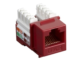 Black Box Connect CAT5e RJ-45 Keystone Jack, Red, CAT5EJ-RD, 33000496, Cable Accessories