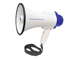 Pyle Professional Lithium Rechargeable Batteries, 30 Watt Megaphone Bullhorn with Siren and Recording, PMP38R, 16549250, Speakers - Audio