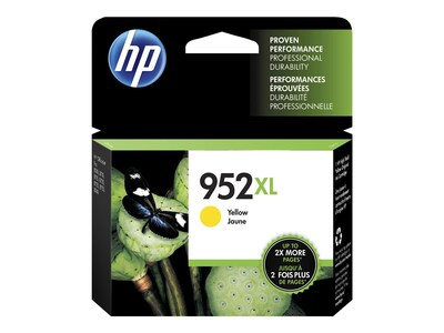HP 952XL (L0S67AN#140) Yellow Original Ink Cartridge, L0S67AN#140, 31583510, Ink Cartridges & Ink Refill Kits