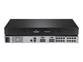 Avocent 2x16 Cat5 Analog KVM Switch, US, AV2216-001, 24989108, KVM Switches