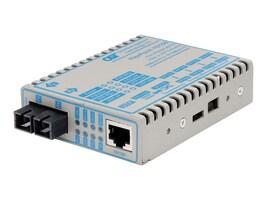 Omnitron FlexPoint Media Converter 10 100BaseTX to 100BaseFX, 4341-0, 194626, Network Transceivers