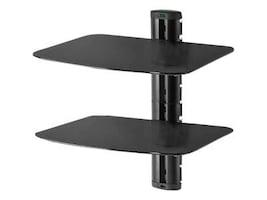 Peerless Dual AV Wall Shelf with Glass, Black, ESHV30-S1, 12742642, Monitor & Display Accessories