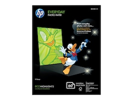 HP 5 x 7 Everyday Glossy Photo Paper (60 Sheets), CH097A, 15605387, Paper, Labels & Other Print Media
