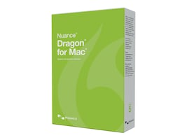 Nuance Corp. Dragon for Mac 5.0, US English, Upgrade from Dictate, S681A-K1A-5.0, 30654494, Software - Voice Recognition