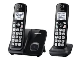 Panasonic Expandable Cordless Phone w  Call Block - 2 Handsets, KX-TGD512B, 34877257, Telephones - Consumer