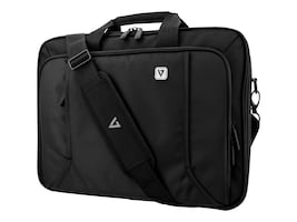 V7 17 Professional Front Loading Laptop Briefcase, Black, CCP17-BLK-9N, 35182836, Carrying Cases - Notebook