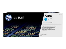 HP 508X (CF361X) High Yield Cyan Original LaserJet Toner Cartridge for HP Color LaserJet M553 & M577, CF361X, 19054800, Toner and Imaging Components