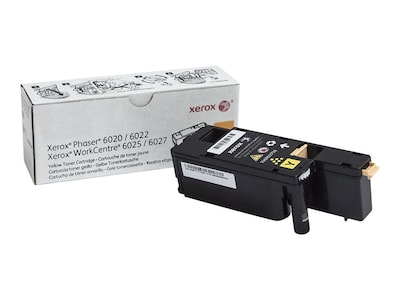 Xerox Yellow Toner Cartridge for Phaser 6022 & WorkCentre 6027, 106R02758, 18441904, Toner and Imaging Components - OEM