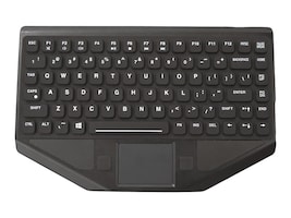 TG3 83-Key, Red Backlighting, Touchpad, USB, Ruggedized, Rubber, Straight Cable, KBA-BLTXR-USNNR-US, 31804036, Keyboards & Keypads