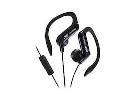 JVC HA-EBR80 Sports Ear Clip Headphones with Microphone, Black, HAEBR80B, 13619494, Headsets (w/ microphone)