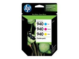 HP 940 (CN065FN) 3-pack Cyan Magenta Yellow Original Ink Cartridges, CN065FN#140, 10049596, Ink Cartridges & Ink Refill Kits - OEM