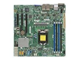 Supermicro Motherboard, X11SSH-LN4F microATX C236 E3-1200 v5 Family Max.64GB DDR4 8xSATA 3xPCIe 4xGbE, MBD-X11SSH-LN4F-B, 30986202, Motherboards