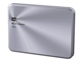 WD 3TB My Passport Ultra Metal Edition USB 3.0 Portable Hard Drive - Silver, WDBEZW0030BSL-NESN, 30564616, Hard Drives - External