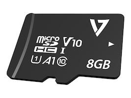 V7 8GB Micro SDHC Flash Memory Card, Class 10, VPMSDH8GC10, 38252692, Memory - Flash