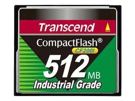 Transcend 512MB Industrial Compact Flash Card, TS512MCF200I, 37145051, Memory - Flash