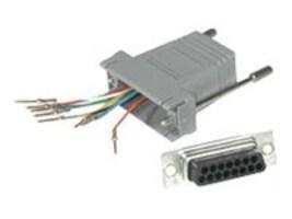 C2G RJ45-DB15 Modular Adapter, Gray, 02926, 8398181, Adapters & Port Converters