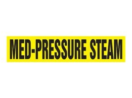 Panduit Snap-On Pipe Marker, Med-Pressure Steam, Yellow, Size F, PPMS1415F, 36056920, Tools & Hardware