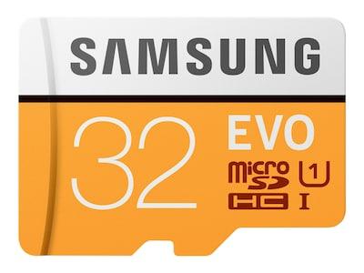 Samsung 32GB EVO MicroSDHC Card with SD Adapter, MB-MP32GA/AM, 33749501, Memory - Flash