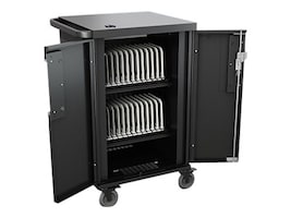 Bretford Manufacturing Core X Charging Cart - AC for 24 devices w  Back Panel, TCOREX24, 31750761, Computer Carts