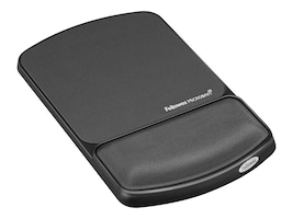 Fellowes Gel Wrist Rest and Mouse Pad with Microban, Graphite, 9175101, 5821166, Ergonomic Products