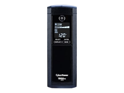 CyberPower 1500VA 900W UPS AVR, LCD, Line Interactive, (12) Outlets, CP1500AVRLCD, 7134520, Battery Backup/UPS
