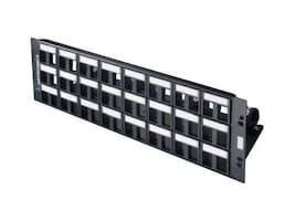 Ortronics 16-Port Patch Panel, Unloaded, Black, 401045289, 11140463, Patch Panels