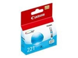Canon Cyan CLI-221 Ink Tank, 2947B001, 8976235, Ink Cartridges & Ink Refill Kits
