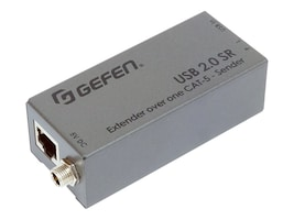 Gefen USB 2.0 SR Extender over one Cat5 Cable, EXT-USB2.0-SR, 35221621, Adapters & Port Converters
