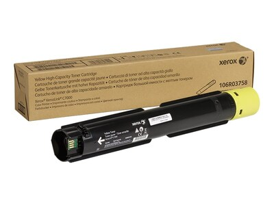 Xerox Yellow Genuine High Capacity Toner Cartridge for the VersaLink C7000, 106R03758, 34167571, Toner and Imaging Components - OEM