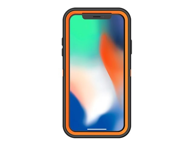 new concept 43bca 030f2 OtterBox Defender Xtra Case for iPhone X, Orange Black