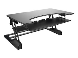 Ergotech 42w Freedom Height Adjustable Standing Desk, Black, FDM-DESK-B-42, 33104789, Furniture - Miscellaneous