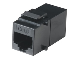 Black Box Cat6 Keystone Coupler, Black, FM692, 10932645, Premise Wiring Equipment