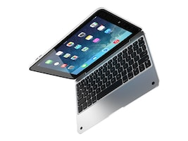 Incipio ClamCase Pro All-in-one Keyboard Case for iPad mini 4, White Silver, IPD-265-WSLV, 31478867, Keyboards & Keypads