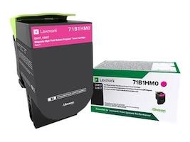 Lexmark Magenta High Yield Return Program Toner Cartridge for CS417dn, CS517de, CX417de & CX517de, 71B1HM0, 33982442, Toner and Imaging Components - OEM