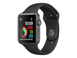 Apple Watch Series 1, 42mm, Space Gray Aluminum Case with Black Sport Band, MP032LL/A, 32658747, Wearable Technology - Apple