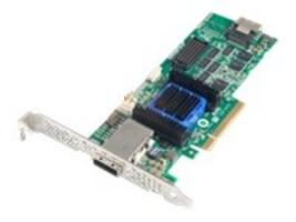 Adaptec 6445 Single RAID 0 1 10 SATA 512MB PCIe 3.3 12V MD2 LP Controller, 2270200-R, 12591223, RAID Controllers
