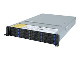 Gigabyte Tech Barebones, R282-Z90 Rev. 100 2U RM (2x)CPU slots 32xDIMMs 12x3.5 HS bays 2xGbE 2x1200W NoOS, R282-Z90, 37598683, Barebones Systems