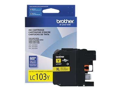 Brother Yellow LC103Y Innobella High Yield (XL Series) Ink Cartridge for the MFC-J4510DW, LC103Y, 14714805, Ink Cartridges & Ink Refill Kits - OEM
