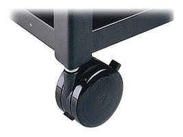 Bretford Manufacturing (4) Hard Rubber Caster, 2-Locking, 044-0024, 14421287, Cart & Wall Station Accessories