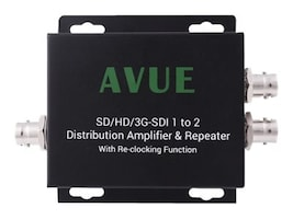 Avue SD HD 3G-SDI 1 to 2 Distribution Amplifier and Repeater, SDE-12RN, 31176199, Video Extenders & Splitters
