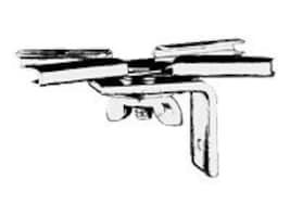 Draper T-Bar Twist Clips for V Screen Star Luma through 70in. Wide, 227016, 6305657, Stands & Mounts - AV
