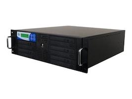 Ez-dupe Pro 5 Target DVD CD USB 2.0 3.0 SATA Stand-Alone Rackmount Duplicator - Black, RK5TDVDSOB, 16395941, Disc Duplicators