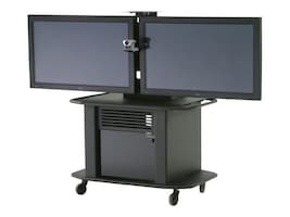 ClearOne ClearOne Titan Articulating Arm Dual Plasma Cart, 911-300-025, 12979383, Computer Carts