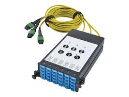 Tripp Lite 8.3 125 Fiber Breakout Cassette w Built-In MTP Cables, 40 GB to 10 GB, N482-3M8L12S-B, 33558318, Network Device Modules & Accessories