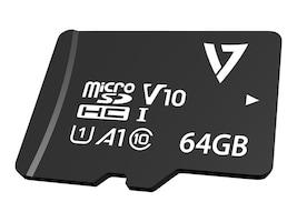 V7 64GB Micro SDXC V30 U3 Flash Memory Card, Class 10, VPMD64GU3, 38252721, Memory - Flash