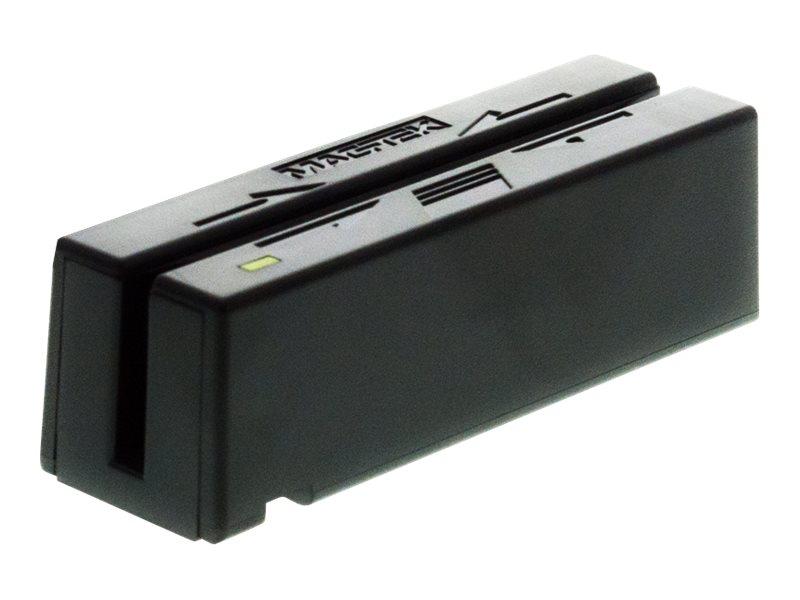 MagTek Mini USB Keyboard Emulation Magnetic Swipe Reader, Track 1-2, Black