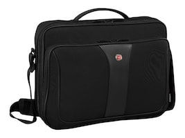 Wenger AXIPM 14 to 16 Adjustable ProCheck Laptop Briefcase, Black, 601672, 35022841, Carrying Cases - Notebook