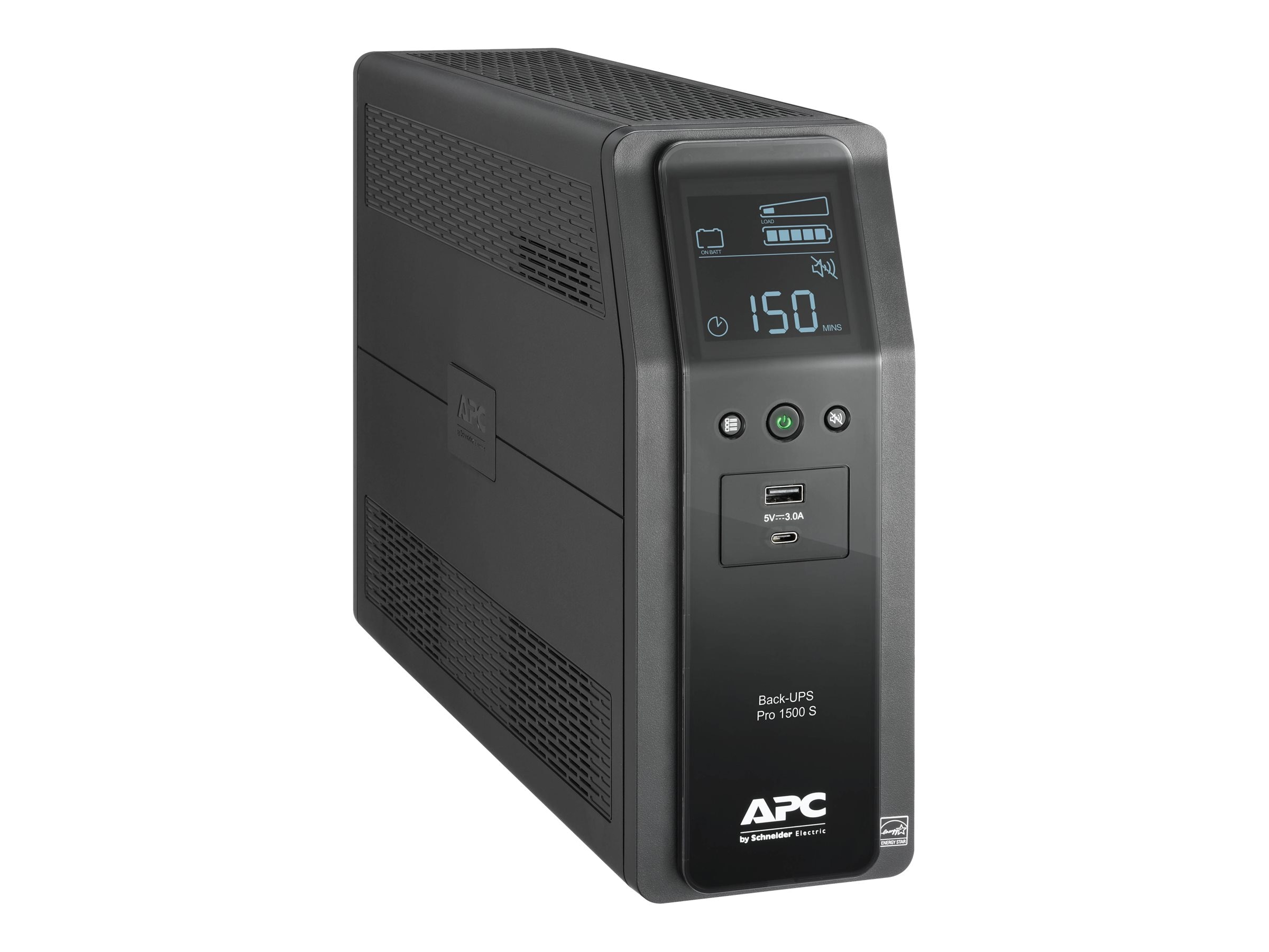 APC Back UPS Pro BR 1500VA, SineWave, (10) Outlets (2) USB Charging Ports,  AVR, LCD Interface
